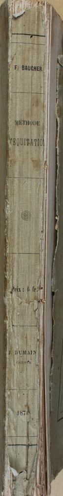 MÉTHODE D'ÉQUITATION BASÉE SUR DE NOUVEAUX PRINCIPES, PAR BAUCHER. (8)