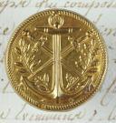 BOUTON D'OFFICIER DE MARINE, MODÈLE 1804, PREMIER EMPIRE.