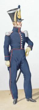 1824. Compagnies de Discipline. Officier, Fusilier (2)