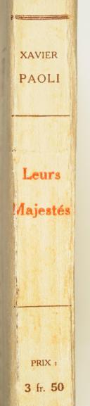 Xavier Paoli – Leurs Majestés – Paris Ollendorf (2)