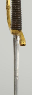 Photo 7 : SABRE D'OFFICIER DE CANONNIER MONTÉ, MODÈLE 1829, LAME DE BISCH, MONARCHIE DE JUILLET.