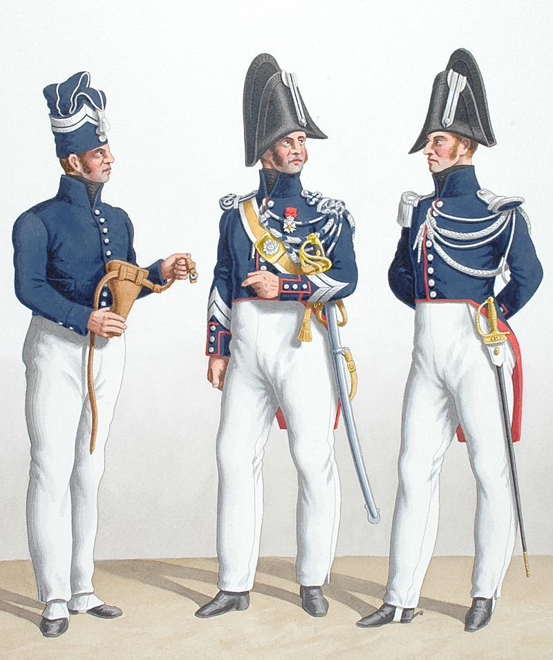 1824 gendarmerie royale des d partements gendarme pied mar chal des logis cheval sous. Black Bedroom Furniture Sets. Home Design Ideas
