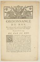 Photo 1 : ORDONNANCE DU ROY, pour régler un habit uniforme aux Officiers Généraux employez dans les armées de Sa Majesté. Du premier février 1744. 2 pages