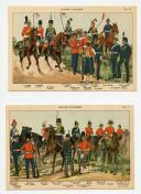 PLANCHES D'UNIFORMES DES ARMÉES BRITANNIQUES VERS 1880-1900.