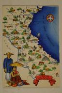 Carte postale mise en couleurs représentant la région du «LAOS ANNAM».