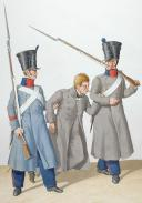 Photo 2 : 1830. Compagnies de Discipline. Caporal, Prisonnier, Fusilier