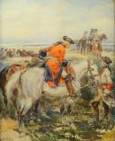 Photo 2 : LALAUZE ALPHONSE : CHEVAU-LÉGERS DE LA MAISON MILITAIRE DU ROI pendant la Guerre d'Indépendance Américaine, Ancienne Monarchie.