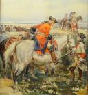 Photo 3 : LALAUZE ALPHONSE : CHEVAU-LÉGERS DE LA MAISON MILITAIRE DU ROI pendant la Guerre d'Indépendance Américaine, Ancienne Monarchie.