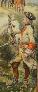 Photo 4 : LALAUZE ALPHONSE : CHEVAU-LÉGERS DE LA MAISON MILITAIRE DU ROI pendant la Guerre d'Indépendance Américaine, Ancienne Monarchie.