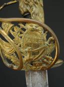 SABRE D'OFFICIER DE CAVALERIE OU DE GARDE NATIONAL À CHEVAL, MONTURE À LA MONTMORENCY, MODÈLE 1789, RÉVOLUTION. (10)
