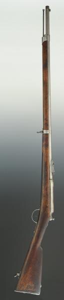 Photo 11 : FUSIL CHASSEPOT D'INFANTERIE, modèle 1866, contrat CAHEN À LYON, fabrication espagnole « Placencia », Manufacture de Tulle, Second Empire.