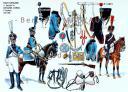 RIGO (ALBERT RIGONDAUD) : LE PLUMET PLANCHE U17 : TRAIN D'ARTILLERIE 1er BATAILLON BIS ARTILLERIE A CHEVAL 3e REGIMENT 1807-1808. (1)