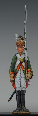 """FIGURINE DEMI-RONDE BOSSE DRAGON 1786 DU RÉGIMENT """"COLONEL GÉNÉRAL"""". (1)"""