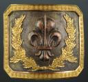 Photo 1 : PLAQUE DE CEINTURON D'OFFICIER DES GRENADIERS À CHEVAL DE LA GARDE ROYALE, 1816-1830, RESTAURATION.