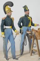 1822. Dragons. Adjudant Sous-Officier, Dragons (7e Régiment - de la manche). (2)