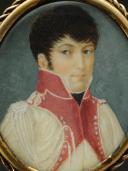Photo 2 : GARDE D'HONNEUR DE VILLE : Portrait miniature sur ivoire, Premier Empire.