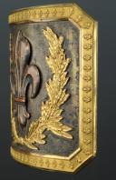 PLAQUE DE CEINTURON D'OFFICIER DES GRENADIERS À CHEVAL DE LA GARDE ROYALE, 1816-1830, RESTAURATION. (3)