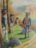 LUCIEN ROUSSELOT : AQUARELLE ORIGINALE - INFANTERIE RÉVOLUTIONNAIRE. (5)