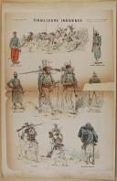 """IMPRIMERIE des Arts et Manufactures - """" Tirailleurs Indigènes """" - Imagerie parisienne - Série B - n°"""