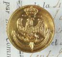 BOUTON D'OFFICIER DES MARINS DE LA GARDE IMPÉRIALE, MODÈLE 1804, PREMIER EMPIRE.