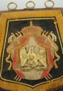 Photo 2 : SABRETACHE DE CHASSEUR À CHEVAL DE LA GARDE IMPÉRIALE, MODÈLE PREMIER EMPIRE, REPRODUCTION FIN XIX° SIÈCLE.