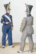 1830. Compagnies de Discipline. CapoTambour, Fourrier, Pionnier (2)