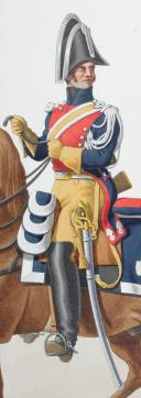 Photo 2 : 1824. Gendarmerie Royale. Gendarme à Cheval des Départements.