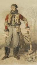 GÉNÉRAL LASALLE 1809, GRAVURE EN COULEURS D'APRÈS GROS. (1)