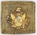 Photo 1 : PLAQUE DE CEINTURON DE JEAN-CHARLES MONNIER, GÉNÉRAL DE BRIGADE, RÉVOLUTION, 1796-1800.