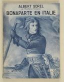 SOREL (Albert) – Bonaparte en Italie  (1)