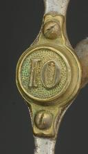 Photo 2 : MORS DE BRIDE D'OFFICIER DU 10ème RÉGIMENT D'INFANTERIE MONTÉE, MODÈLE 1845, SECONDE RÉPUBLIQUE.