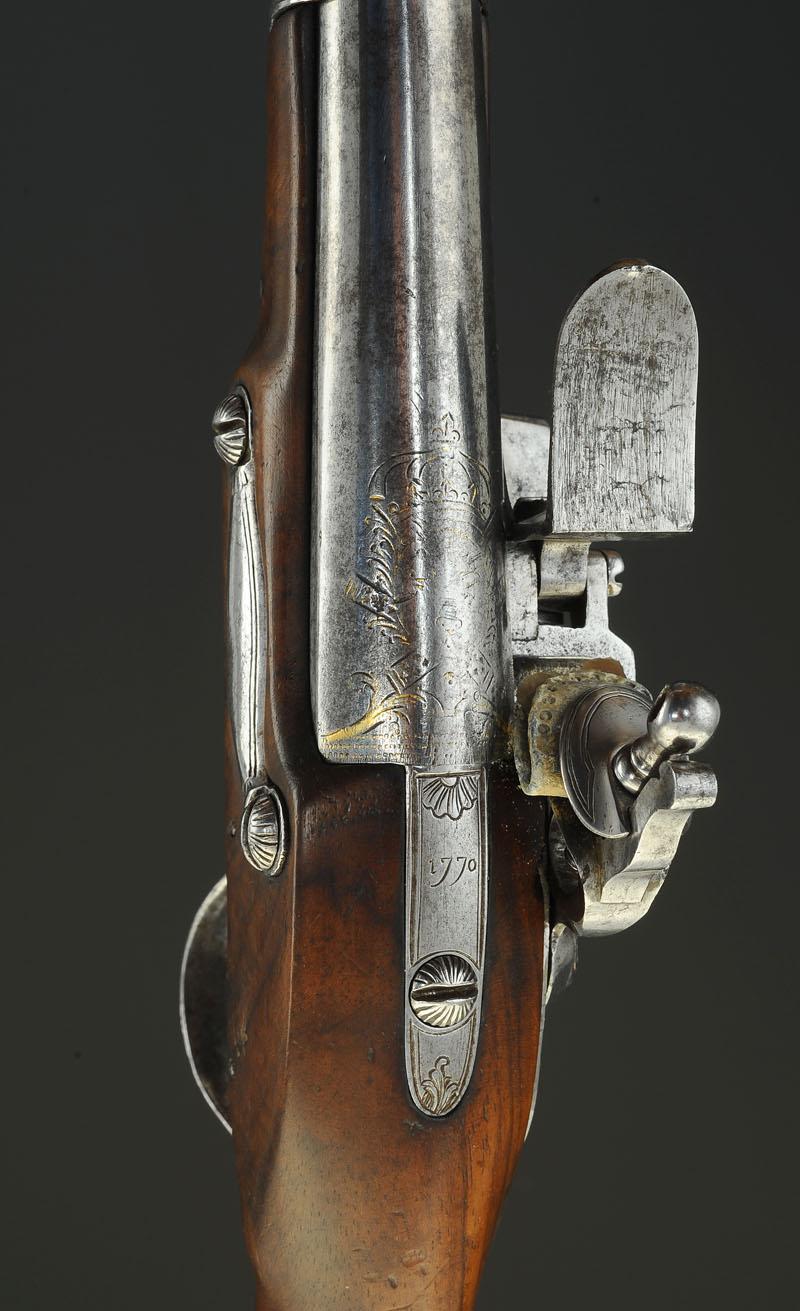pistolet  u00c0 silex d u0026 39 officier de gendarmerie  mod u00c8le 1770