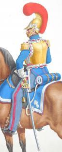 Photo 2 : 1820. Carabiniers de Monsieur. Capitaine Adjudant-Major, petite tenue.