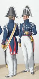 Photo 2 : 1830. Gendarmerie Royale des Départements. Gendarmes, Brigadier à Pied.