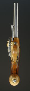 """PISTOLET D'ARÇON, MODÈLE 1777, dit à """"coffre"""", PREMIER TYPE, ANCIENNE MONARCHIE. (5)"""