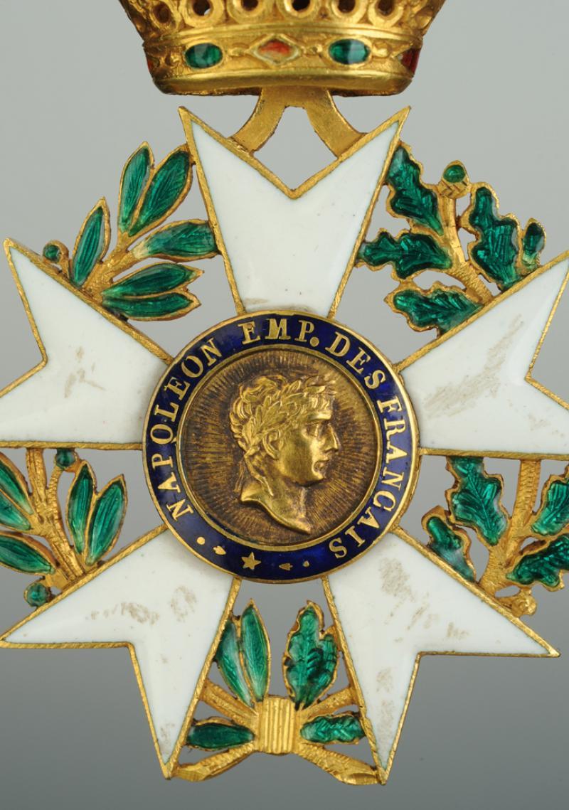croix de officier de la l gion d 39 honneur troisi me type 1806 1808 premier empire. Black Bedroom Furniture Sets. Home Design Ideas