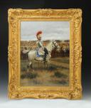 DETAILLE Édouard (1848-1912) : OFFICIER DE CARABINIERS AVANT LA BATAILLE DE LA MOSKOWA, CAMPAGNE DE RUSSIE 1812.