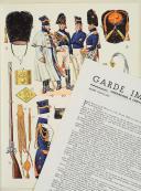 """L'ARMÉE FRANÇAISE Planche N° 23 : """"GRENADIERS À CHEVAL DE LA GARDE - 1804-1815"""" par Lucien ROUSSELOT et sa fiche explicative. (2)"""