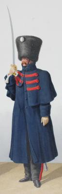 1824. Garde Royale. Régiment d'Artillerie. Officier Supérieur, Canonnier à Cheval. (2)