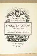 ORLIAC. (J. d'). Suisses et Grisons. Soldat de France. (2)