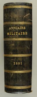 Photo 3 : ANNUAIRE MILITAIRE 1861
