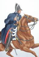 1830. Gendarmerie Royale des Départements. Gendarme à Cheval.