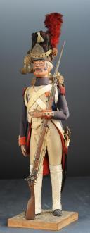 SANDRE (Charles) MANNEQUIN MINIATURE D'UN GRENADIER À PIED DE LA GARDE IMPÉRIALE PREMIER EMPIRE. (1)