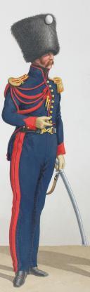 Photo 2 : 1824. Garde Royale. Artillerie à Cheval. Maréchal des Logis-Chef, Capitaine.