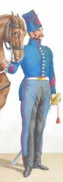 Photo 2 : 1824. Carabiniers de Monsieur. Brigadier.