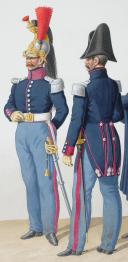 Photo 2 : 1830. Cuirassiers. Lieutenant (4e Régiment - de Berry), Officiers (8e Régiment).