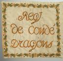 Photo 6 : ÉTENDARD DU RÉGIMENT DE CONDÉ DRAGONS (8ème RÉGIMENT EN 1814 ET 13ème RÉGIMENT EN 1815), RESTAURATION.