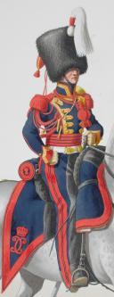 1830. Garde Royale. Régiment d'Artillerie. Trompette. (1)