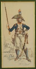 Photo 1 : HORATIUS LOCLES : TAMBOUR MAJOR D'INFANTERIE DE LIGNE, RÉVOLUTION.