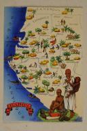 Photo 1 : Carte postale mise en couleurs représentant la région du «CAMEROUN».